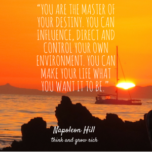 You Are The Master of Your Destiny...